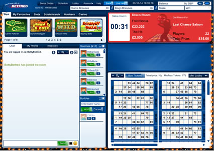 Betfred Bingo 90 Ball Game
