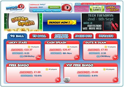 Bingo 7 Lobby