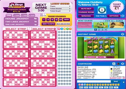 Bingo Clubhouse 90 Ball Game