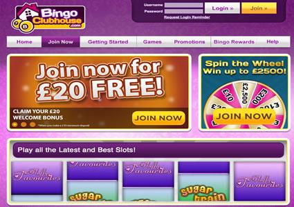Bingo Clubhouse Home
