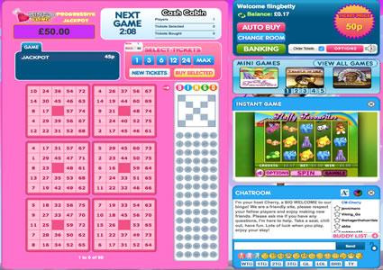 Bingo Fling 75 Ball Game