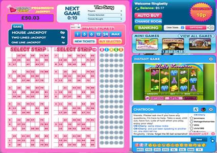 Bingo Fling 90 Ball Game