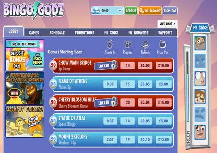 Bingo Godz Lobby