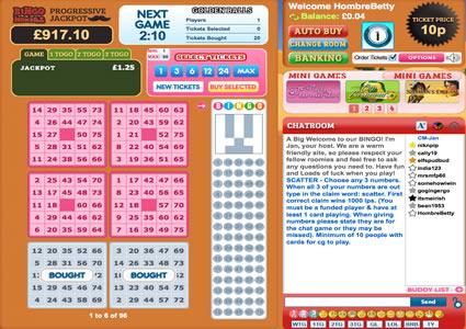 Bingo Hombre 75 Ball Game