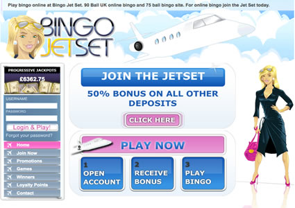 Bingo Jetset Home