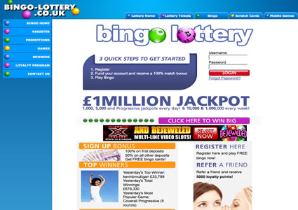 Bingo Lottery Home