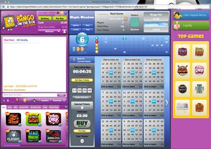 Bingo OnTheBox 75 Ball Game
