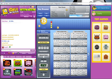 Bingo OnTheBox 90 Ball Game