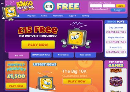 Bingo OnTheBox Home
