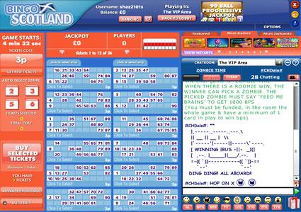 Bingo Scotland 90 Ball Game