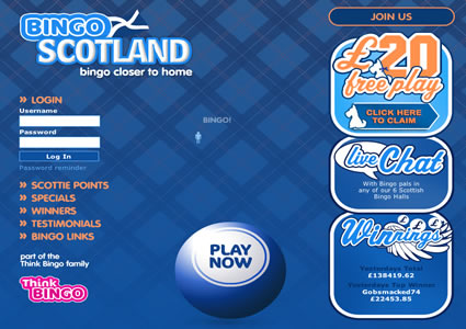 Bingo Scotland Home
