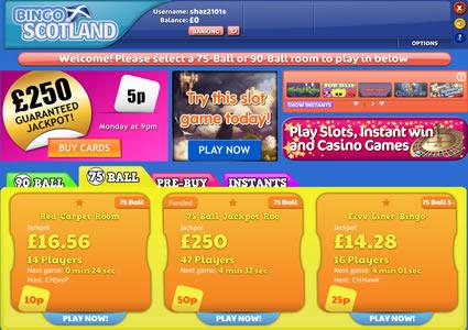 Bingo Scotland Lobby