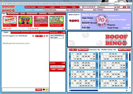 BOGOF Bingo 90 Ball Game