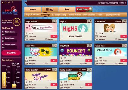 Brits Bingo Lobby