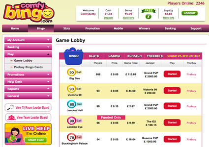 Comfy Bingo Lobby