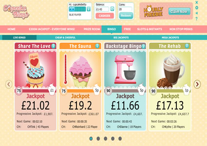 Cupcake Bingo Lobby