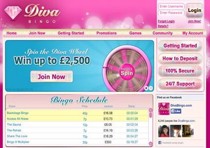 Diva Bingo Home