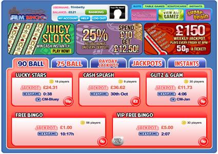 Film Bingo Lobby