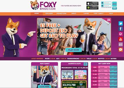 Foxy Bingo Home