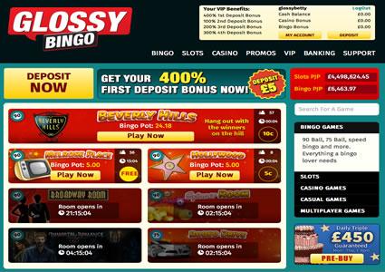 Glossy Bingo Lobby