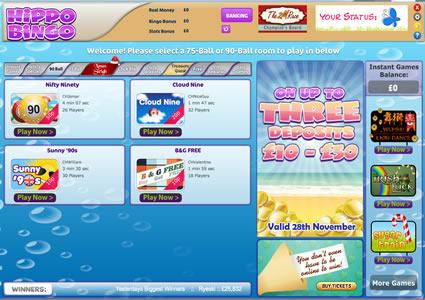 Hippo Bingo Lobby