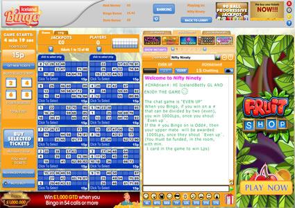 Iceland Bingo 90 Ball Game