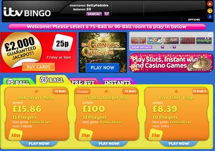 ITV Bingo Lobby
