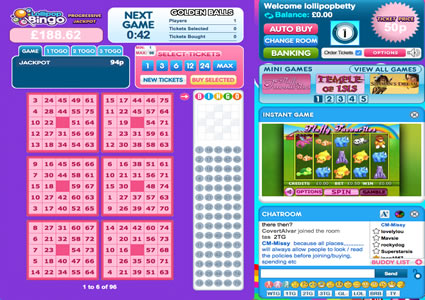 Lollipop Bingo 75 Ball Game