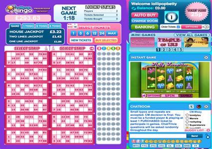 Lollipop Bingo 90 Ball Game