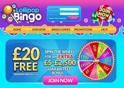 Lollipop Bingo Home