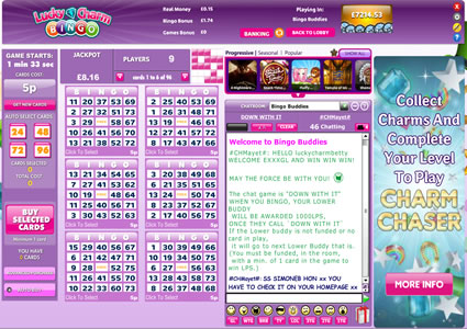 Lucky Charm Bingo 75 Ball Game