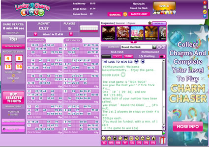 Lucky Charm Bingo 90 Ball Game