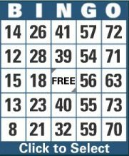 75 ball bingo card