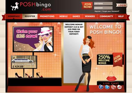Posh Bingo Home