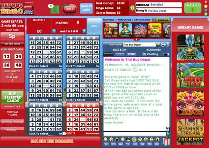 Red Bus Bingo 75 Ball Game