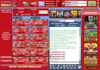 Red Bus Bingo 90 Ball Game