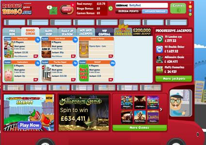 Red Bus Bingo Lobby