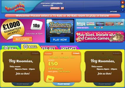 Rollover Bingo Lobby