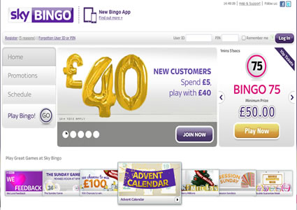 Sky Bingo Home