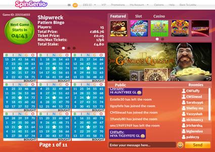 Spin Genie Bingo 75 Ball Game