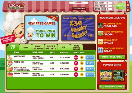 Tasty Bingo Lobby