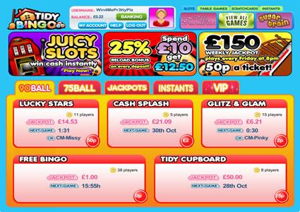 Tidy Bingo Lobby