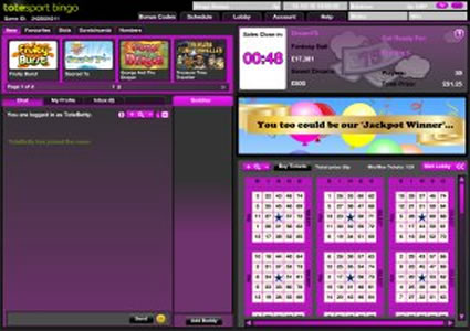 Totesport Bingo 75 Ball Game