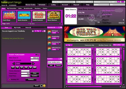 Totesport Bingo 90 Ball Game