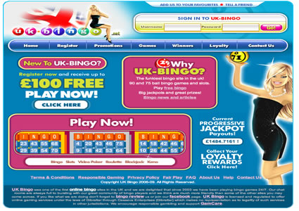 UK Bingo Home