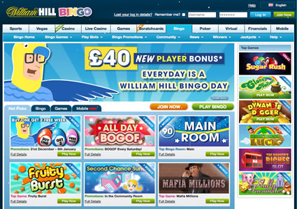 William Hill Bingo Home