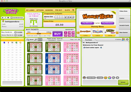 WOW Bingo 75 Ball Game