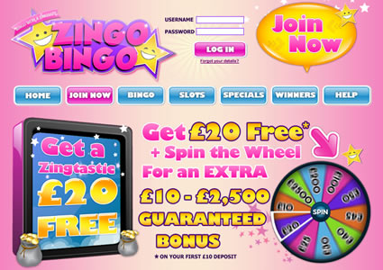 Zingo Bingo Home