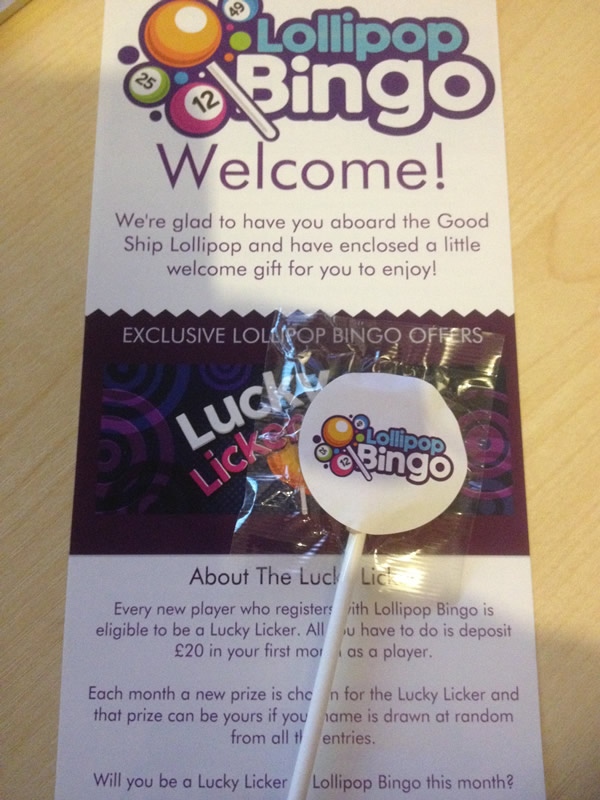 Free Lollipop And Flyer - Lollipop Bingo